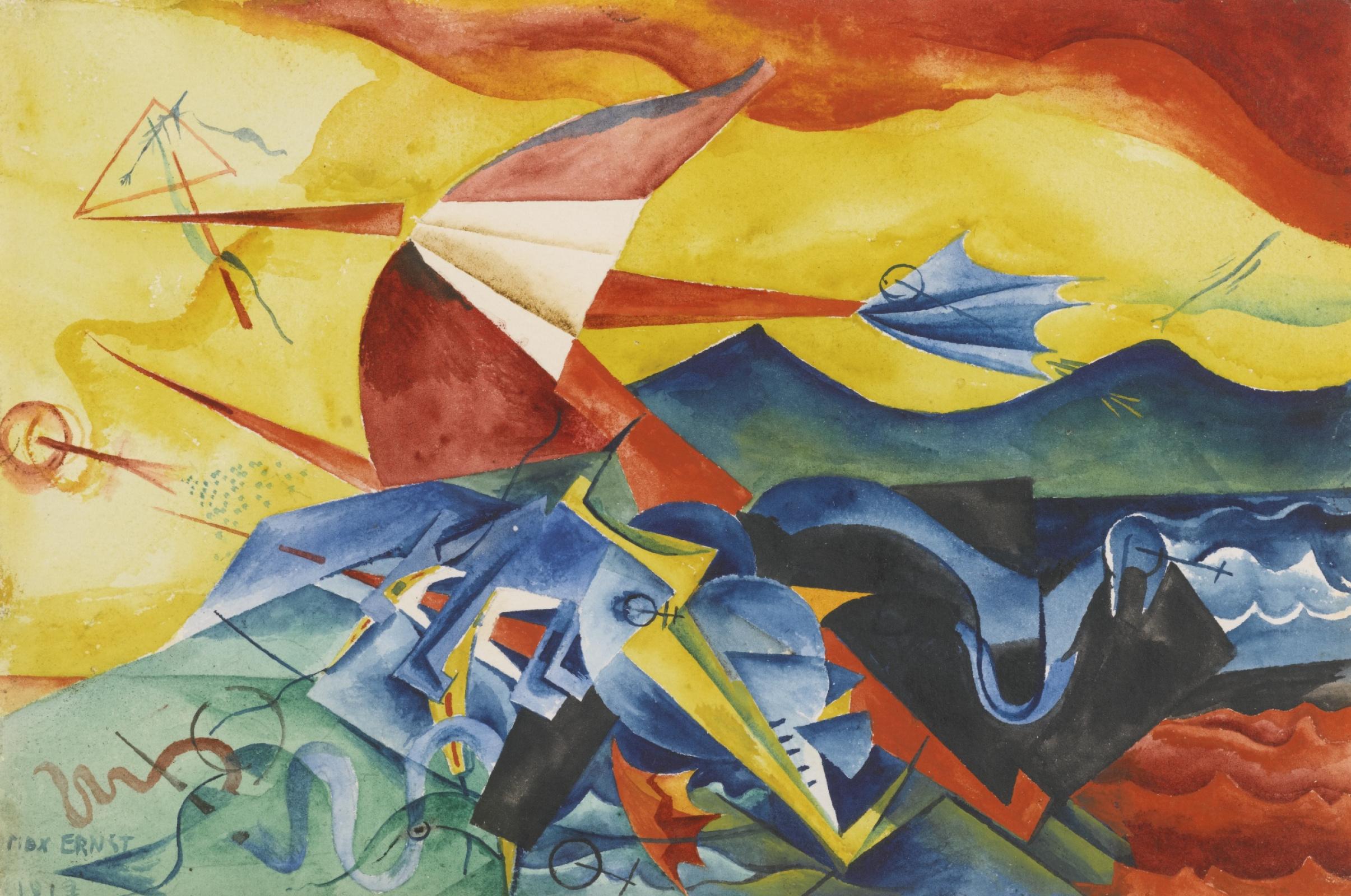 Max Ernst. Composition