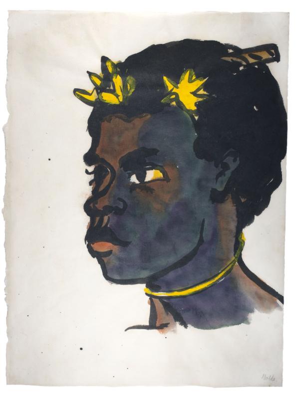 Эмиль Нольде. Портрет женщины с Южного острова