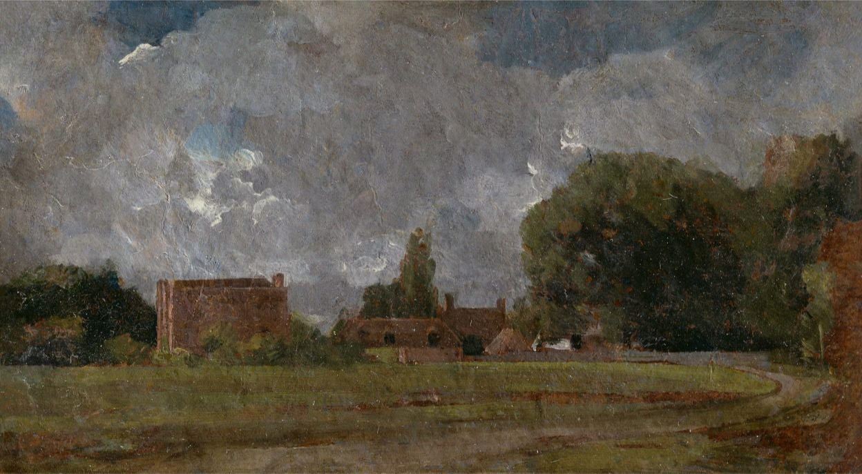John Constable. Constable Gold House, East Bergholt. Place of birth of the artist. Yale Center for British Art, New Haven.