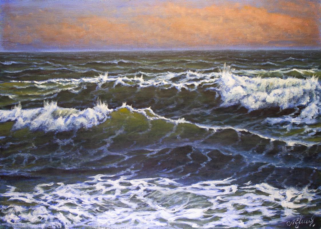 Valery Levchenko. № 613  Морской пейзаж.