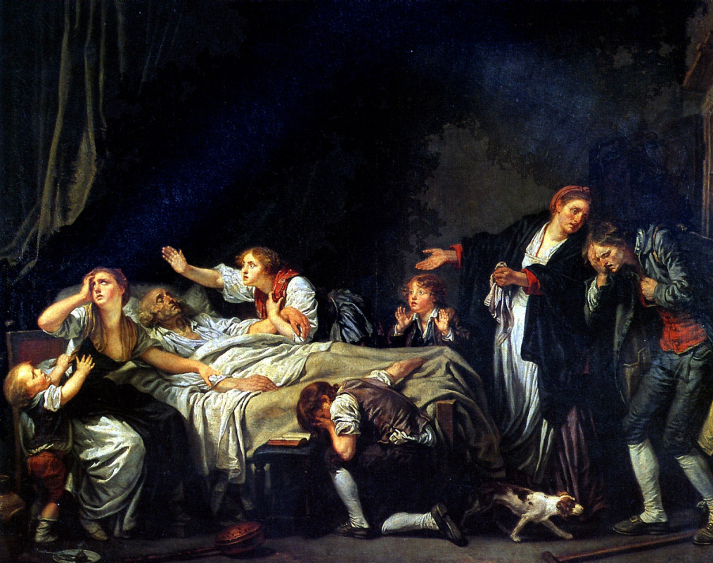 Жан-Батист Грёз. Наказание сыновней