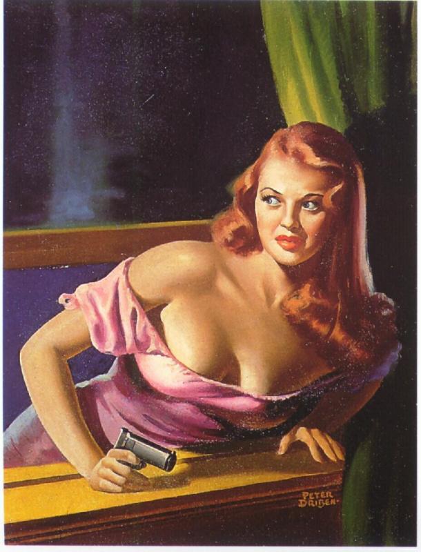 Питер Дрибен. Дама в розовом платье