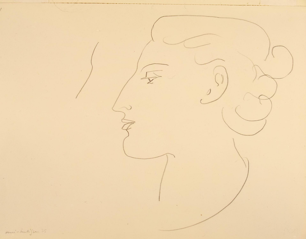 Henri Matisse. Profile of a woman