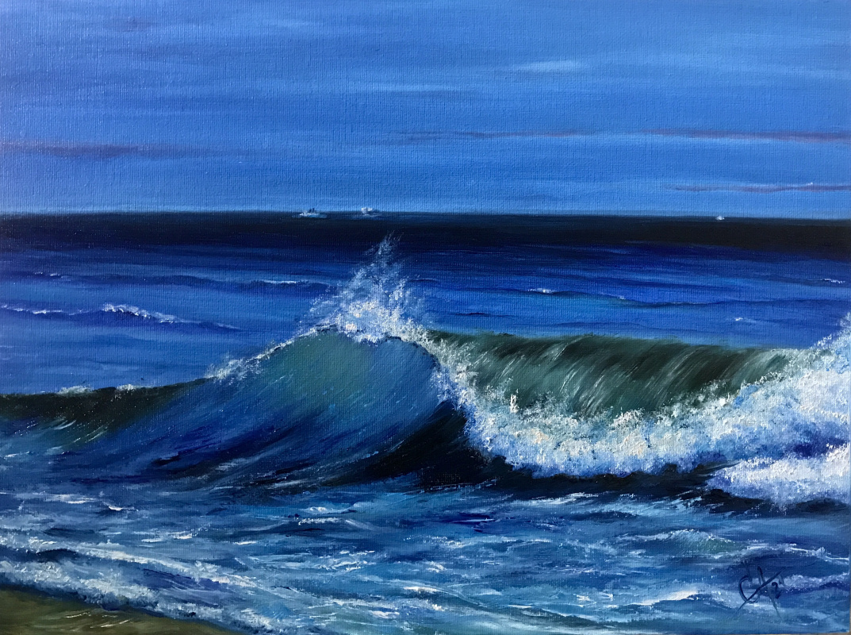 Svetlana Arkhipova. Blue wave