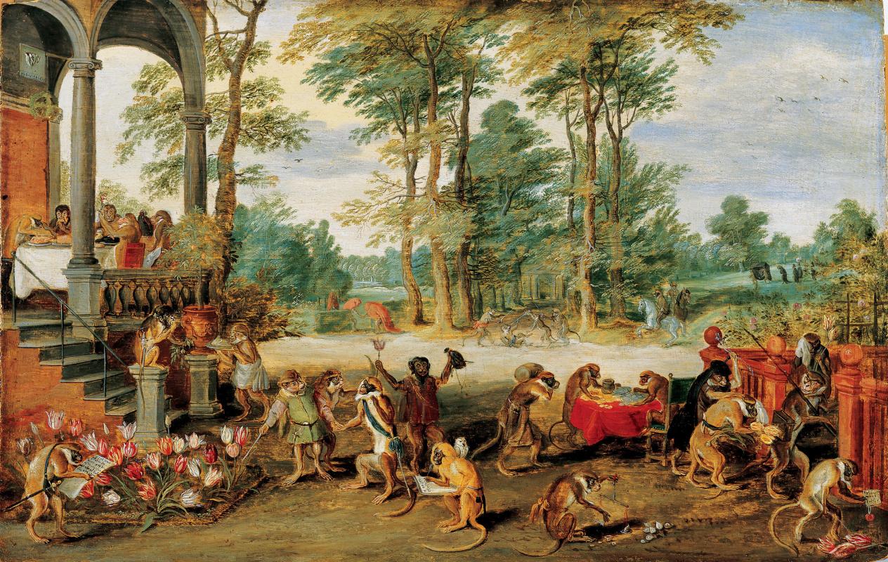 Jan Brueghel the Younger. Allegory of tulpenmanie