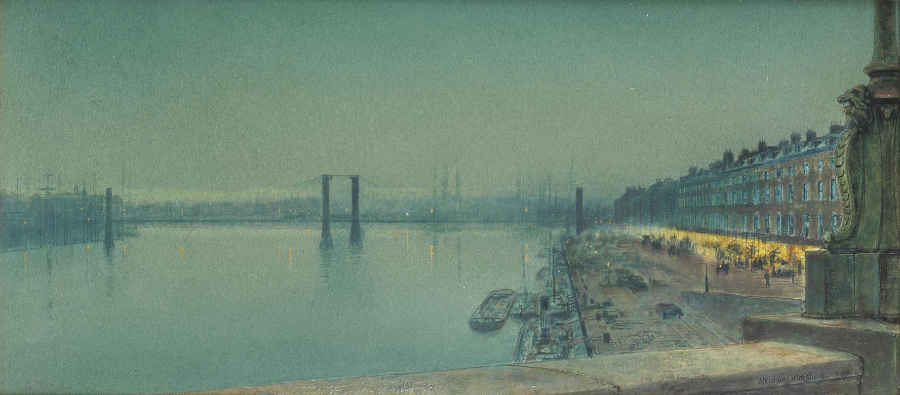 John Atkinson Grimshaw. Paris Embankment