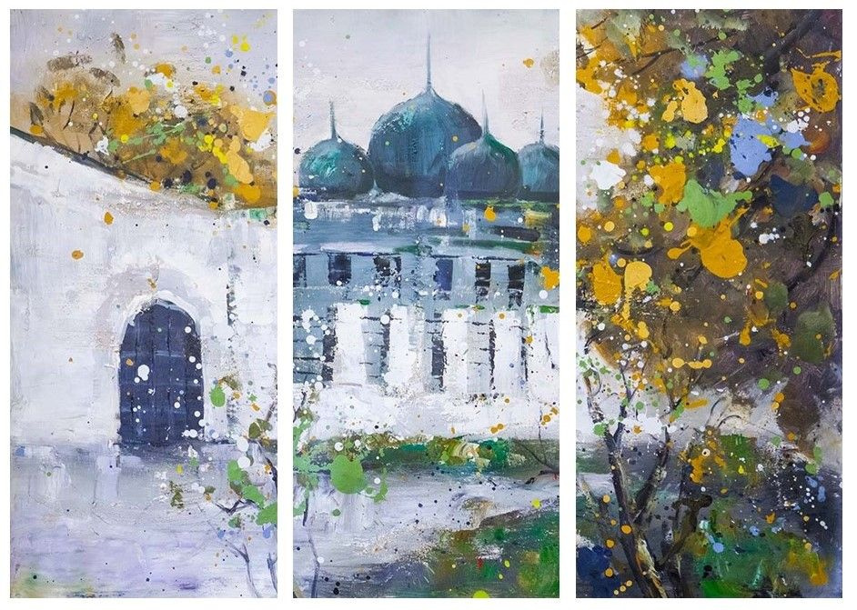 Daniel Wenger. Cathedral of the Holy Trinity in Paris. Sketches. Triptych