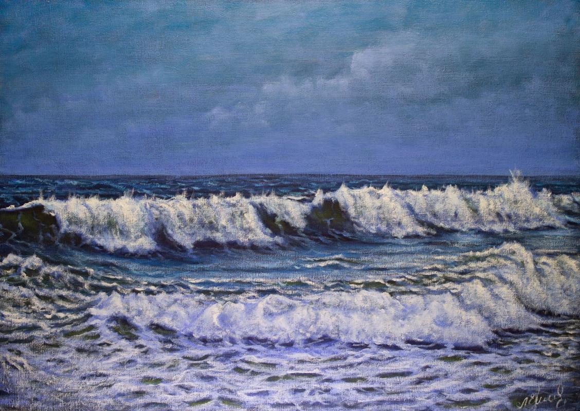 Valery Levchenko. № 623  Морской пейзаж.