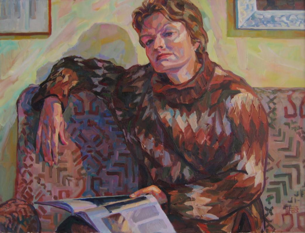 Vladimir Nikitovich Shmuratko. Rumyantseva Valentina. Among the paintings