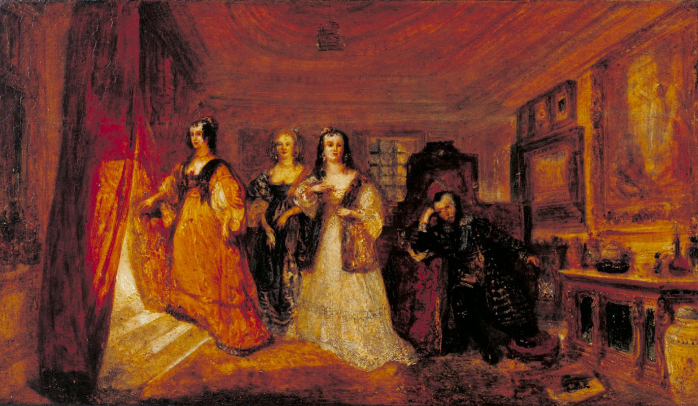 Joseph Mallord William Turner. Lucy, Countess of Carlisle, and Dorothy Percy's visit to their disgraced father Lord Percy