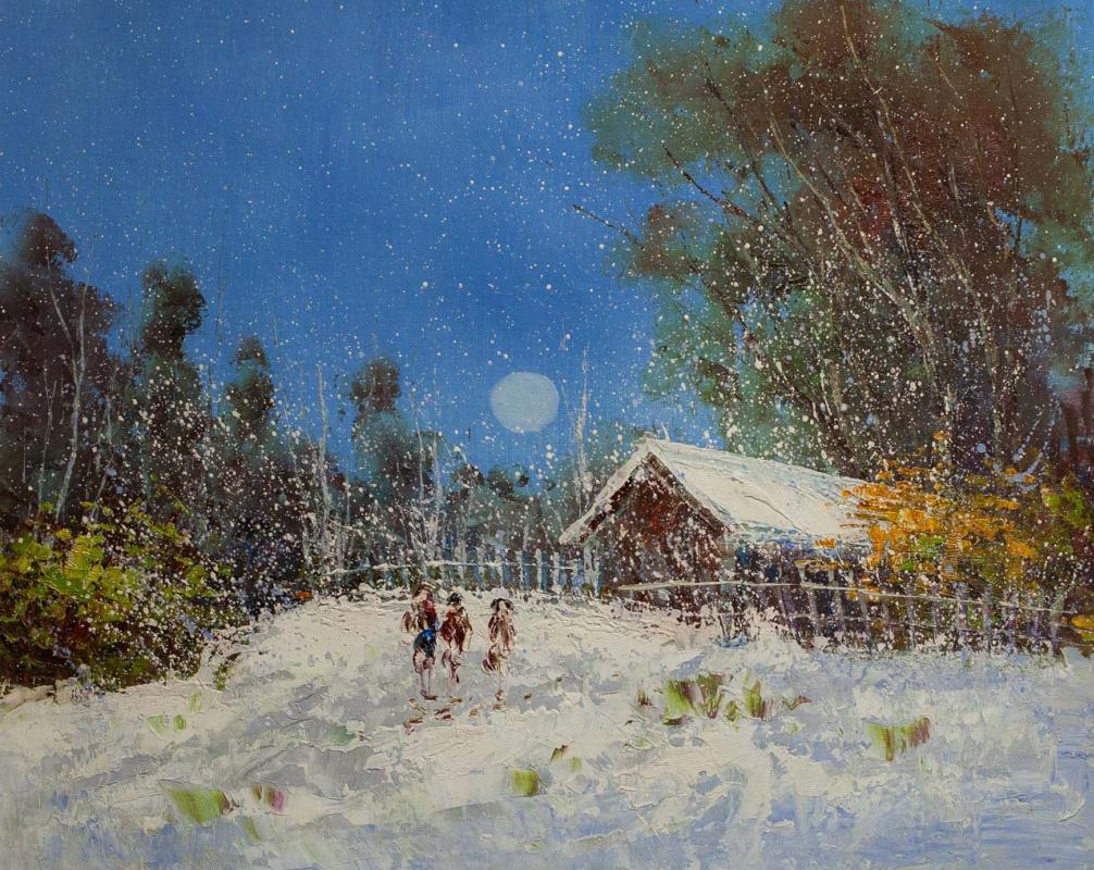 Андрей Шарабарин. Cнежным днем в начале зимы. N1