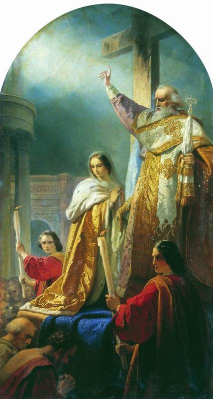 Тимофей Андреевич Нефф. Воздвижение креста