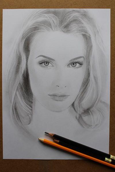 Shop Artists. Pencil portrait
