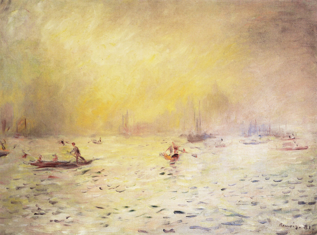 Pierre-Auguste Renoir. View of Venice, fog