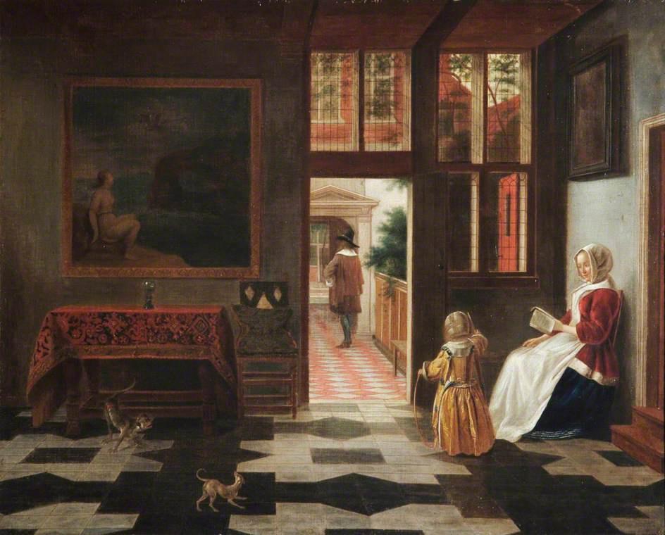 Peter de Hoh. Dutch interior