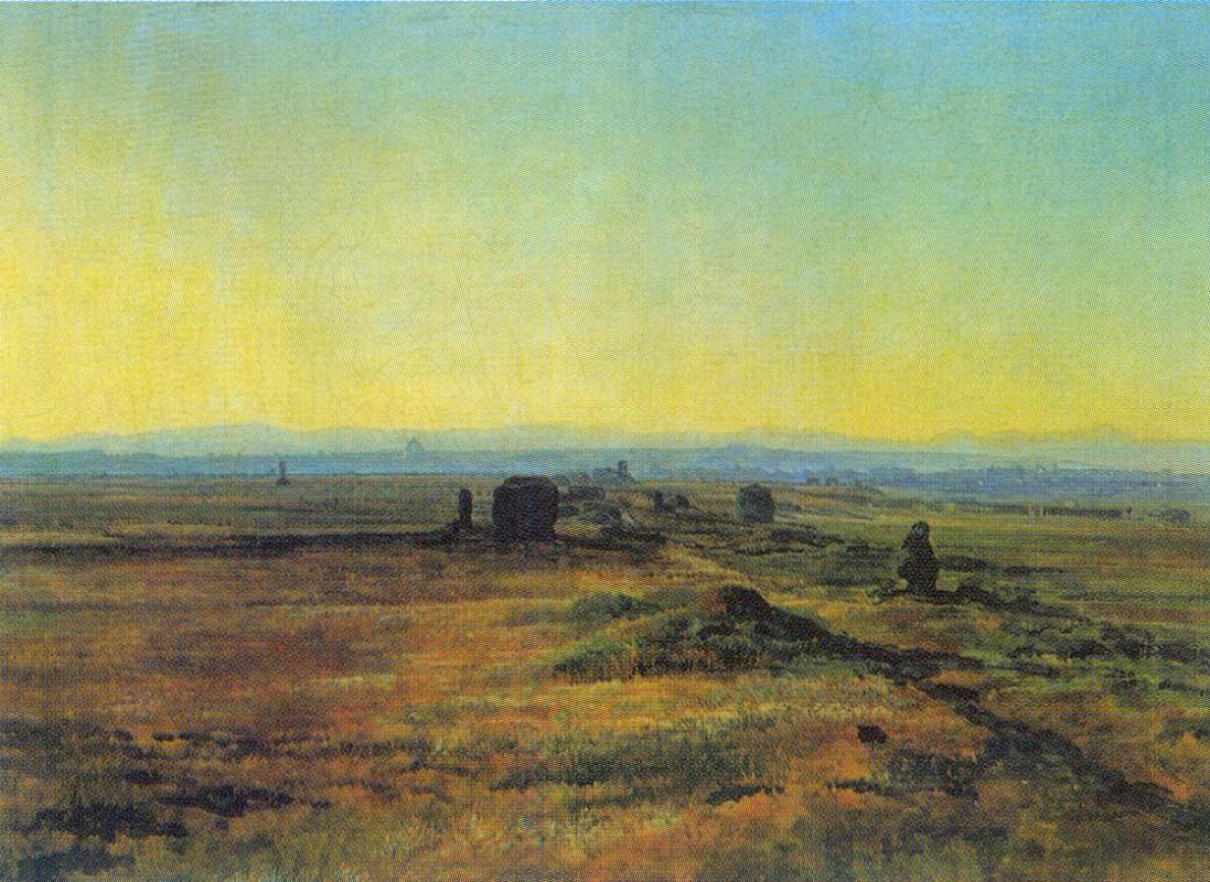 Alexander Andreyevich Ivanov. The Appian way at sunset