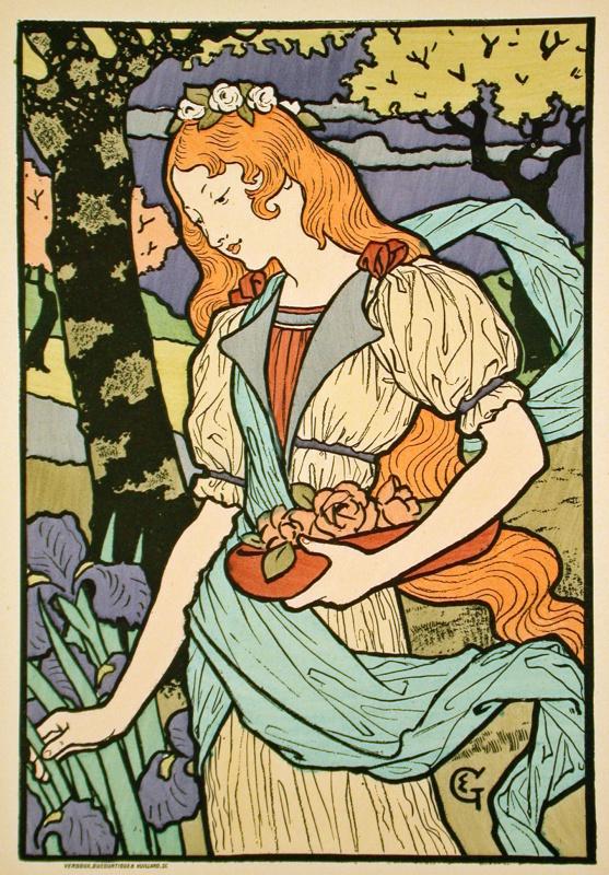 Эжен Грассе. Плакат для выставки в Grafton Galleries