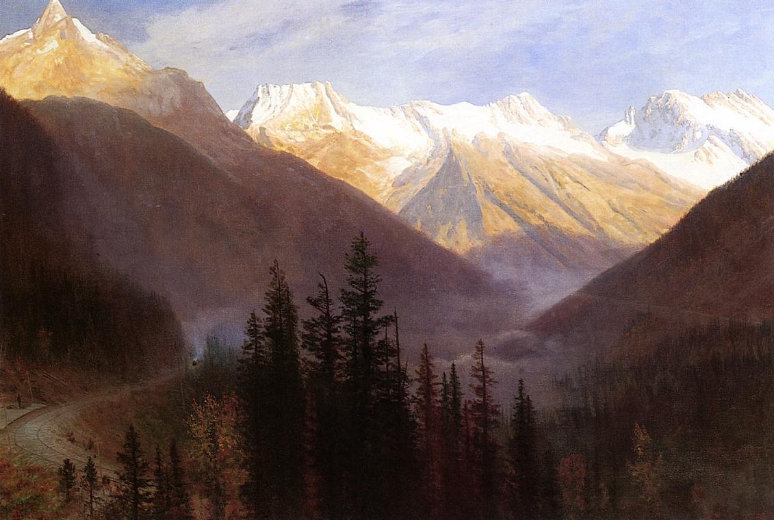 Альберт Бирштадт. Рассвет над ледниками