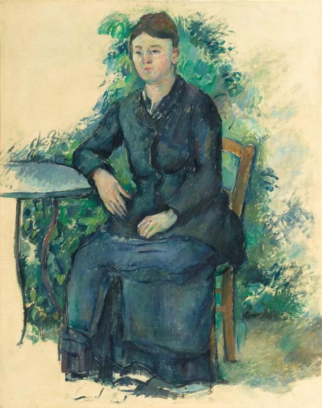 Paul Cezanne. Madame Cezanne in the garden
