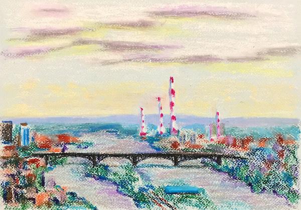 Larissa Lukaneva. Krasnoyarsk. Bridge.