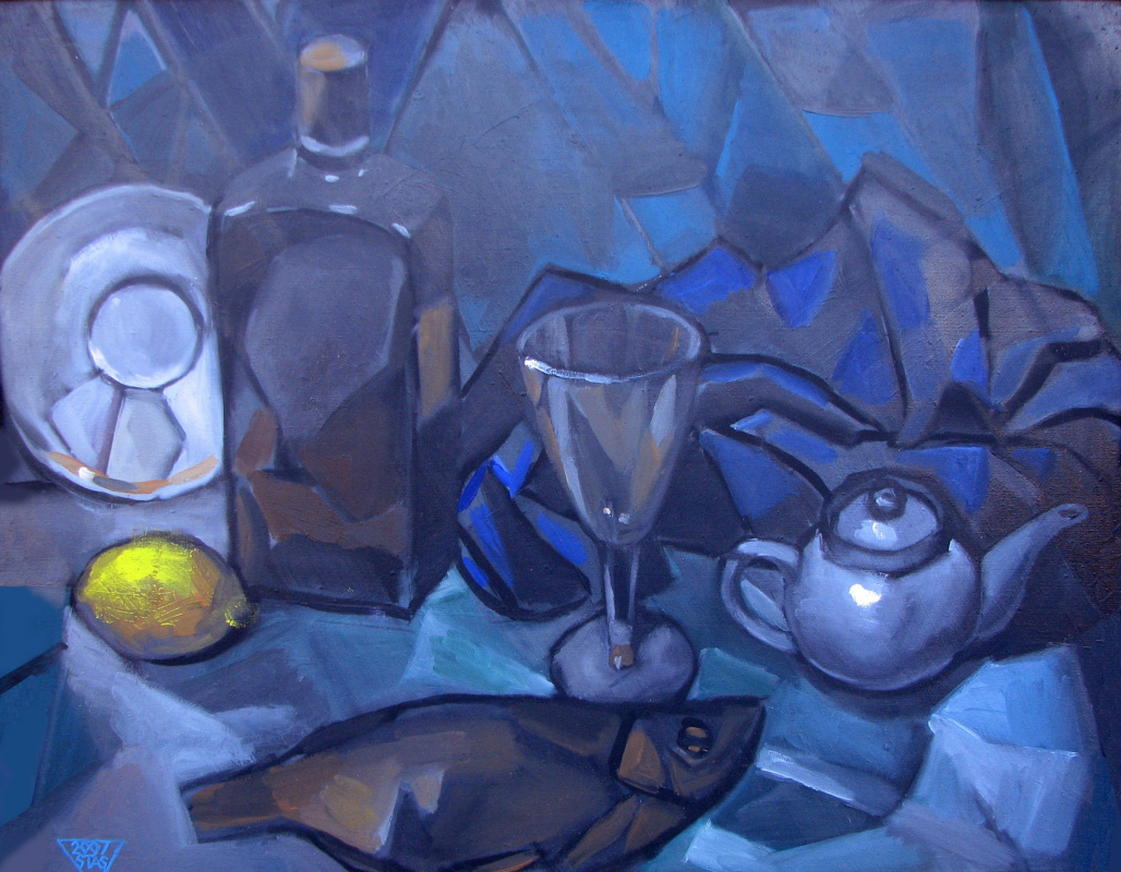 Stas Sergeevich Volostnykh. Still life with lemon