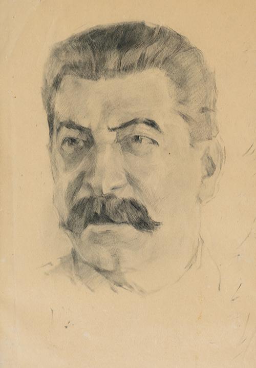 Melentiev G.A. 1888 - 1967. Portrait of Stalin. 1940