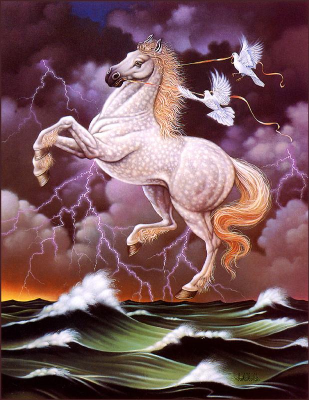 Белый конь и молния
