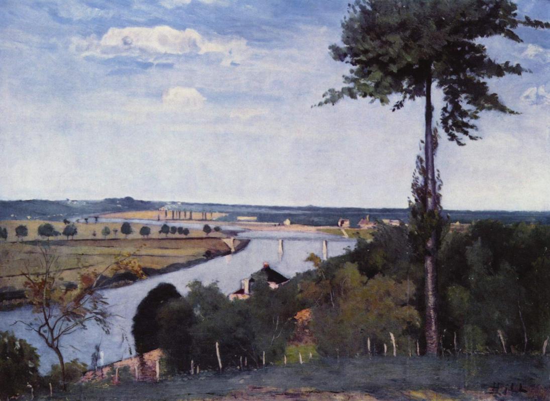 Hill Carl Fredrik. Seine near the Bois-Le-ROI