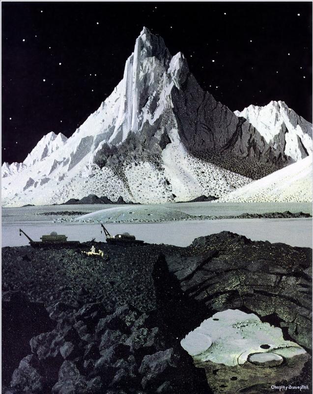 Чесли Бонестелл. Изучение Луны