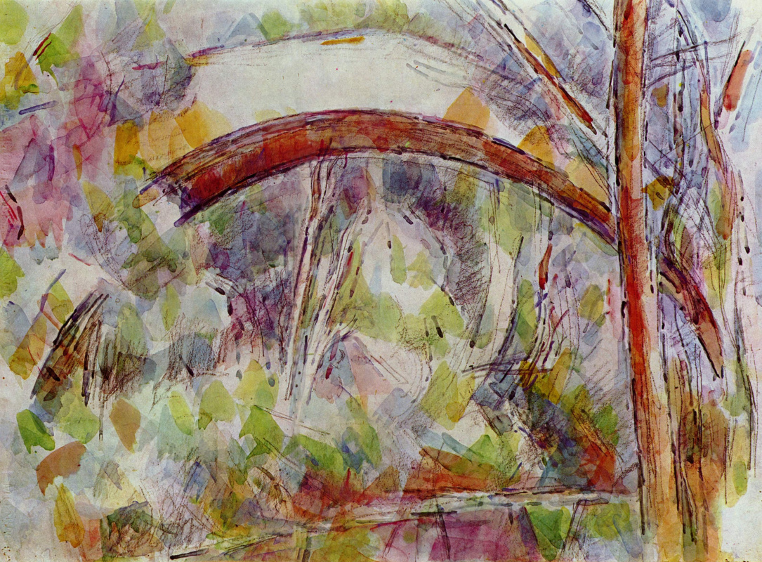 Paul Cezanne. The river at the bridge of three sources