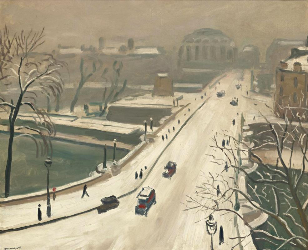 Albert Marquet. Bridge Pont Neuf in the snow