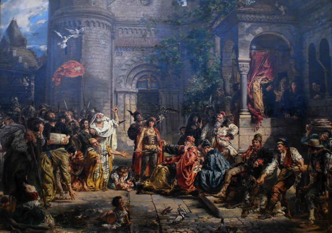 Ян Матейко. Прием евреев в Польше в 1096 году