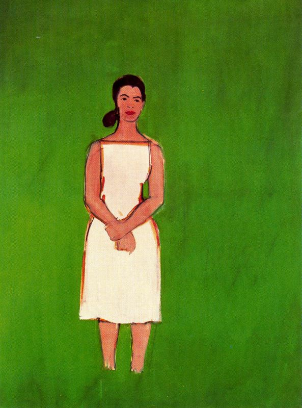 Alex Katz. Hell in a white dress