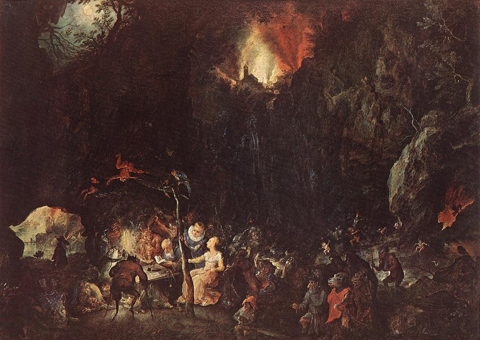 Jan Bruegel The Elder. The temptation of St. Anthony