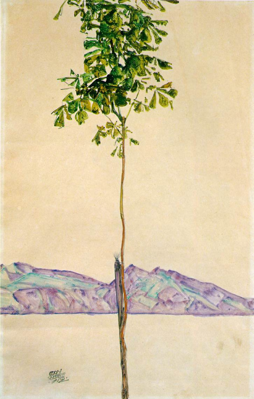 Egon Schiele. Little tree (Chestnut tree at lake Constance)