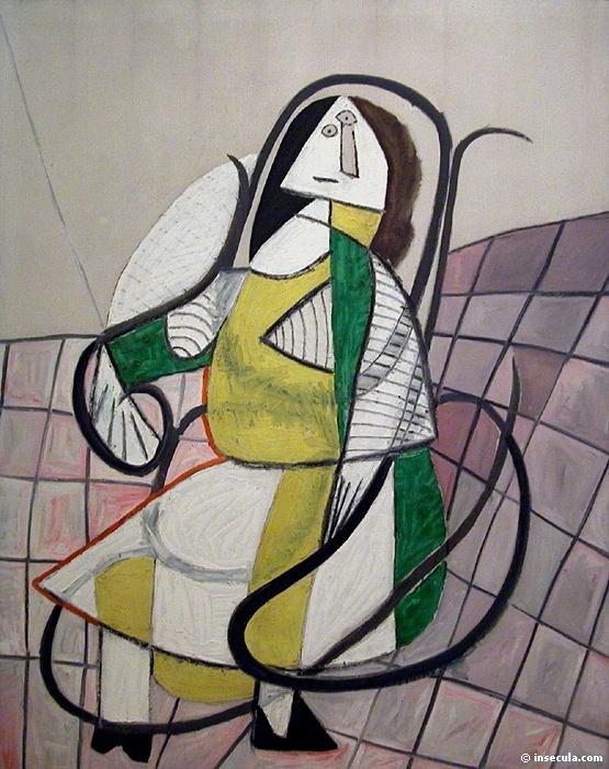 Пабло Пикассо. Жаклин в кресле-качалке