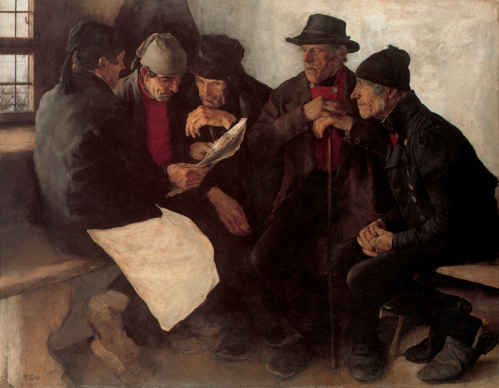 William Label. Men are busy reading
