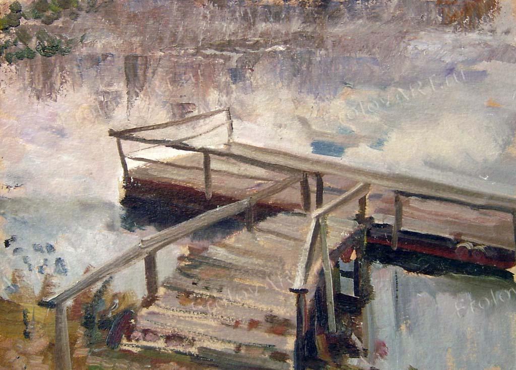 Valery Frolov. Old pier