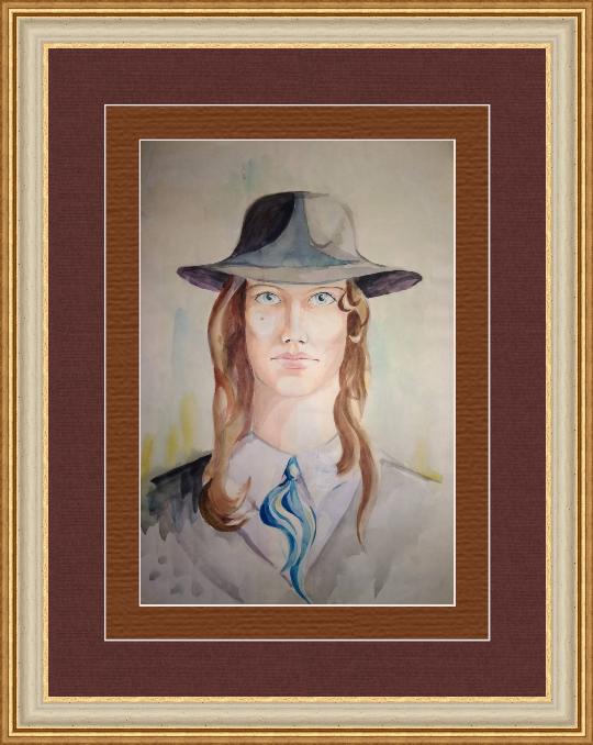 Novikov V.. Old portrait, watercolor 90s
