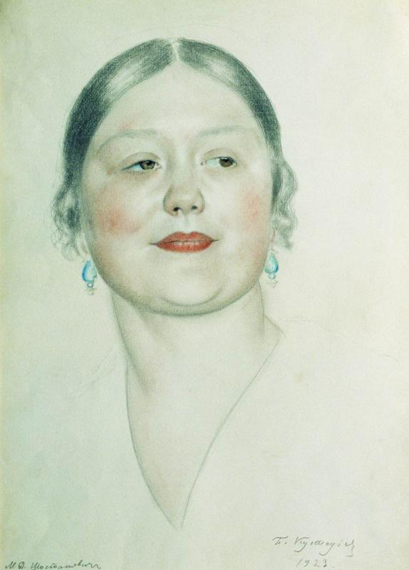Борис Михайлович Кустодиев. Портрет М.Д. Шостакович