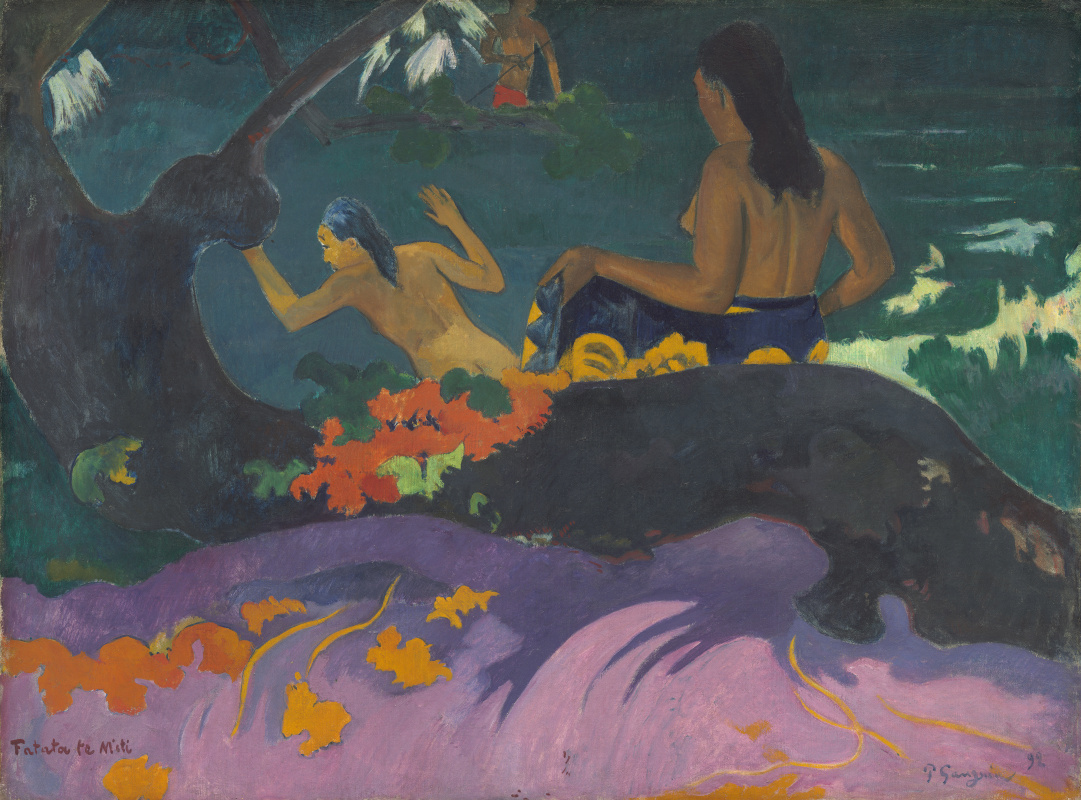 Paul Gauguin. By the sea (Fatata te Miti)