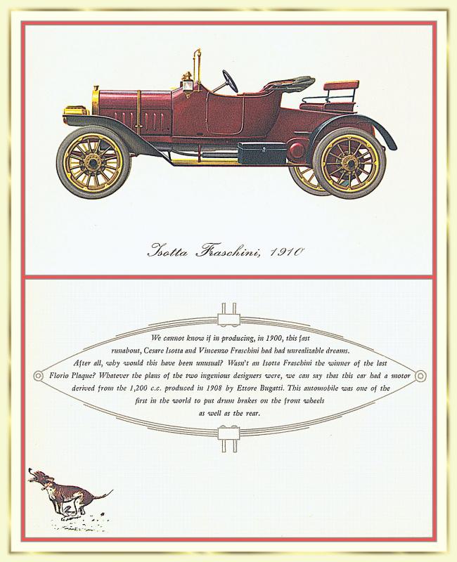 Лионель Моррис. Серия ретро-автомобили. 1910 Изотта-Франчини