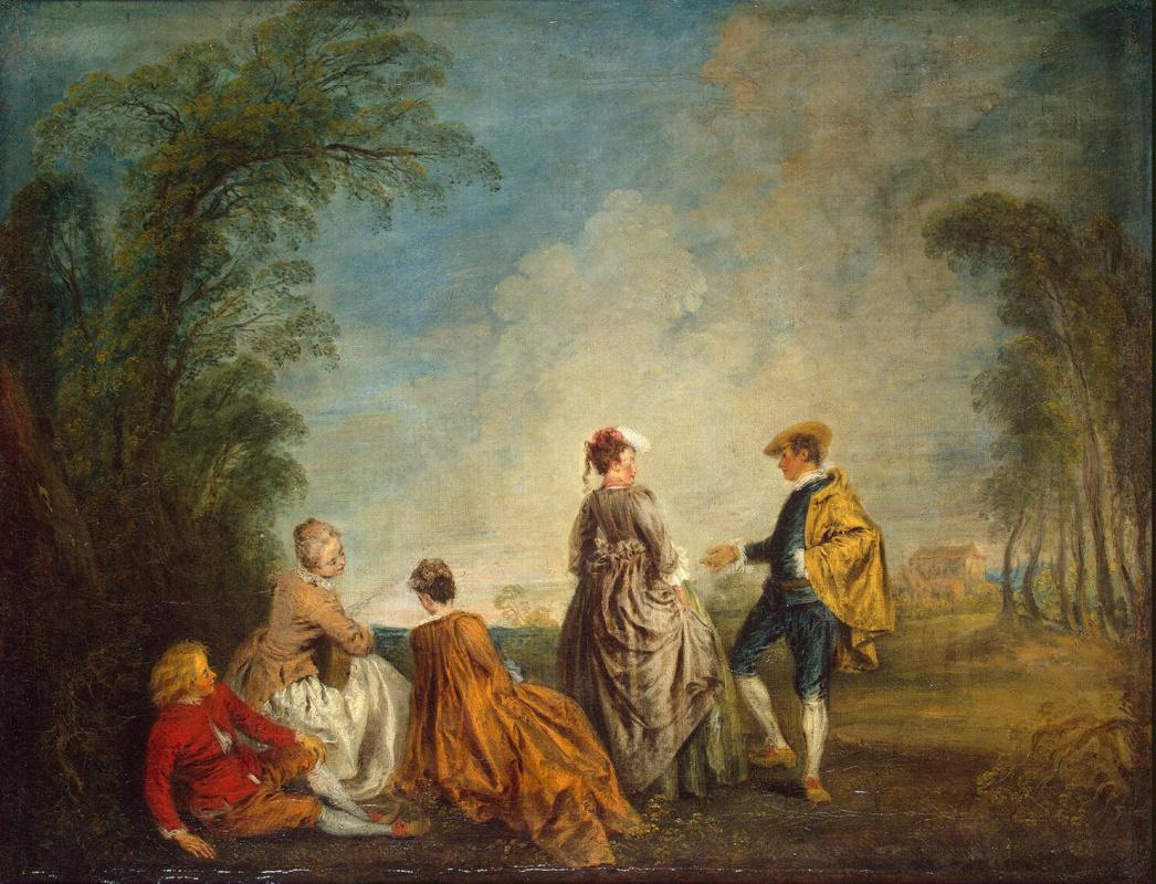 Antoine Watteau. Difficult offer