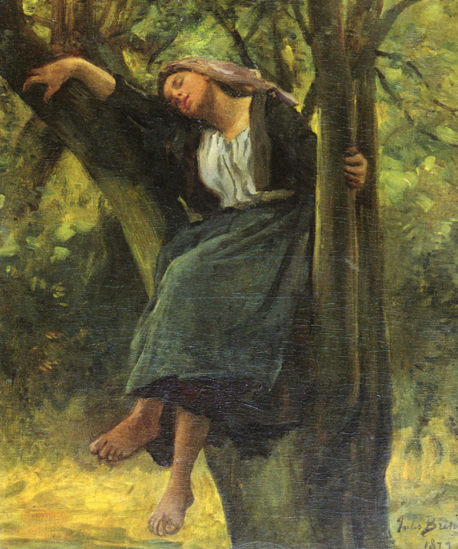Жюль Бретон. Спящая в лесу
