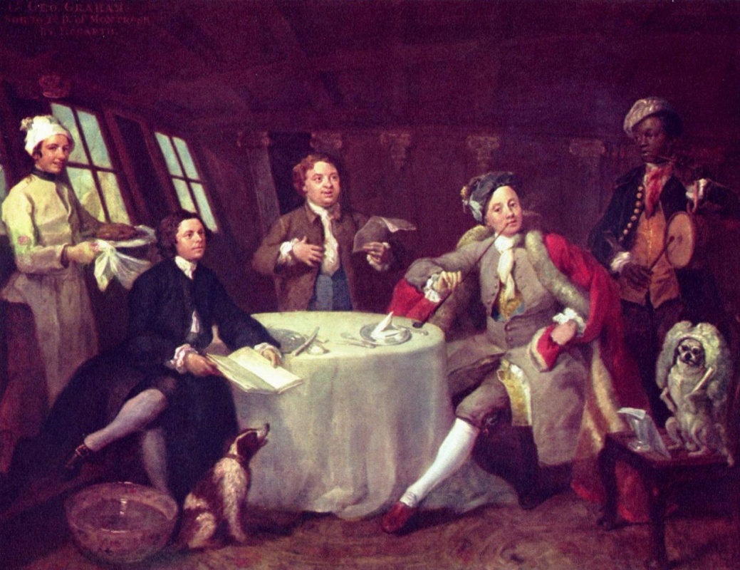 William Hogarth. Portrait of Lord George Graham in his cabin