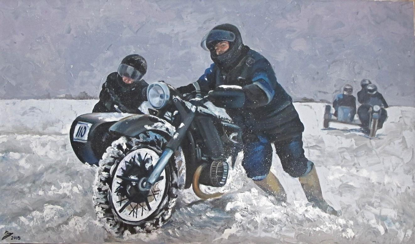 Dariya Zakharova. Bear rod. Winter Moto Rally