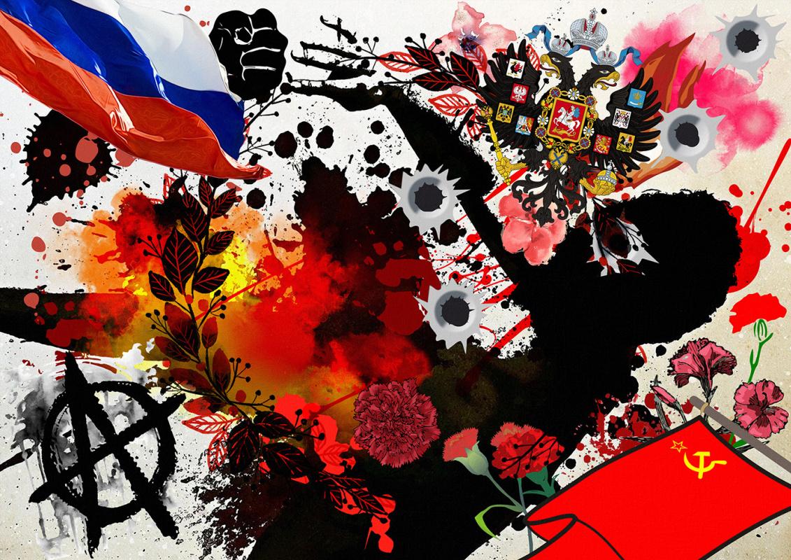 Random Human. Russian riot or fire of revolutions