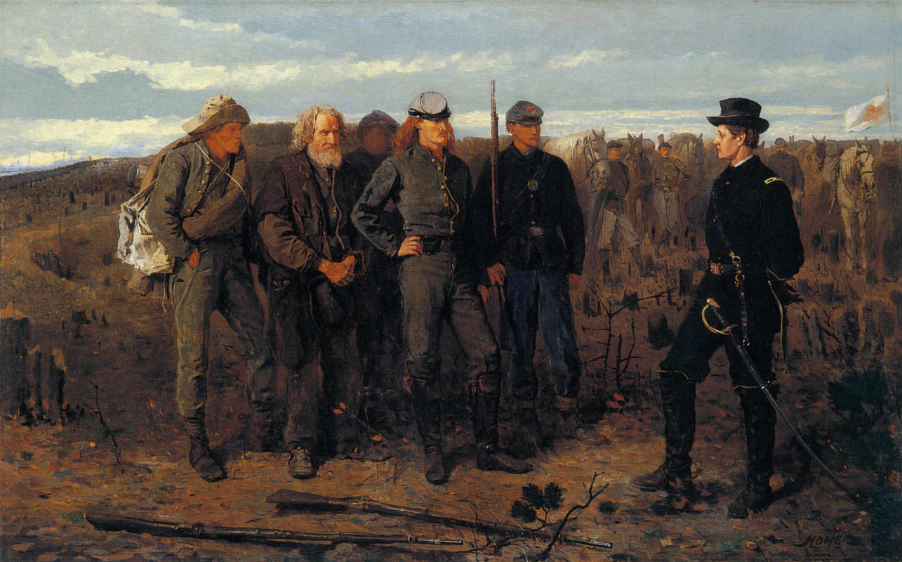 Winslow Homer. Prisoners from the front