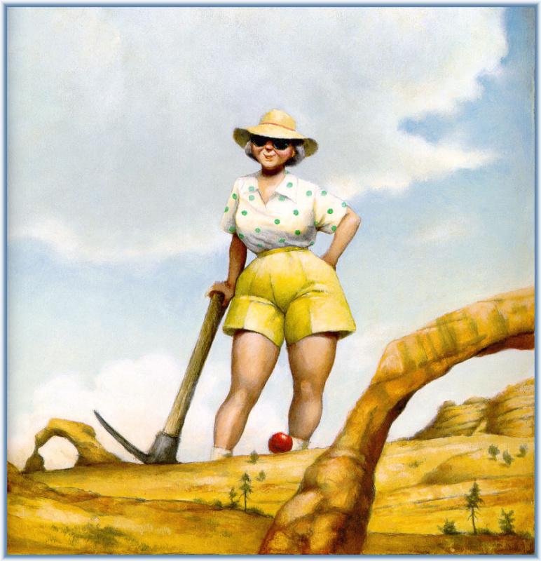 Дэвид Шеннон. Женщина в шляпе