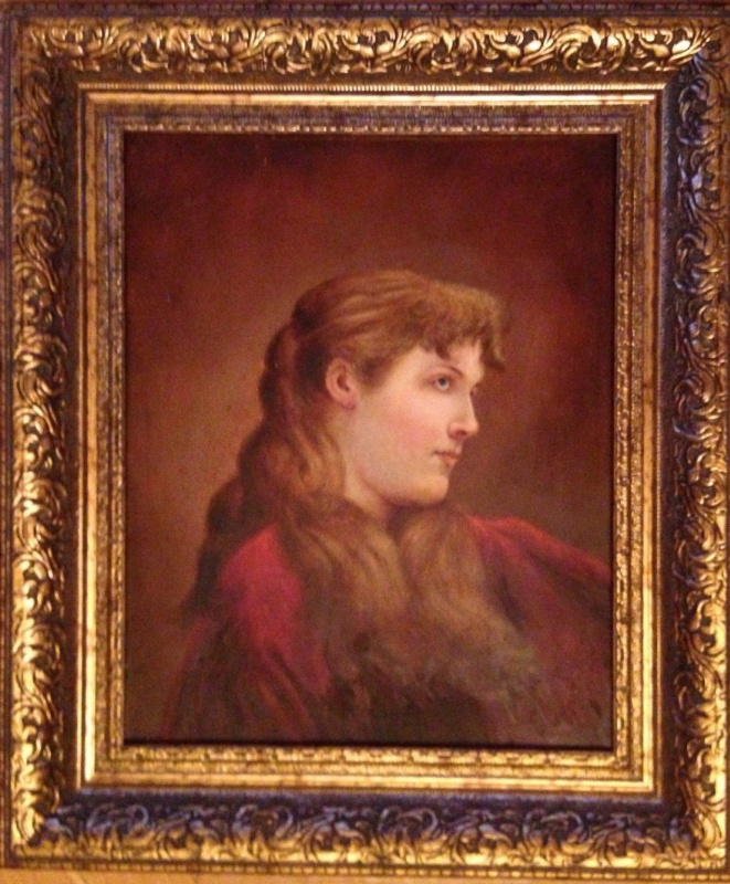 "Unknown Author. ""Portrait of a girl"",1894.,silver plate/M., 45х36"